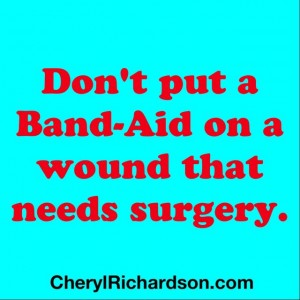 band-aid on wound
