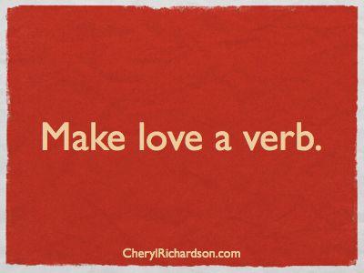make love a verb