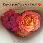 Thank you from my heart